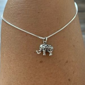 🐘🐘NEW🐘🐘Sterling Silver Solid Elephant Necklace